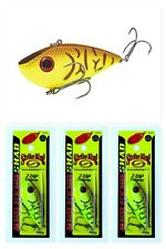 "(3) Strike King 2 1/2"" Red Eyed Shad 2-Tap Lipless Crankbaits Chart Belly Craw"