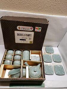 1988 Seoul Olympics Asian Tea Set Souvenir Set New Open Box