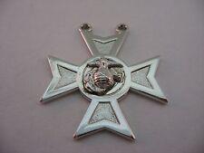 Silver Tone Marine Cross Badge Award Add On
