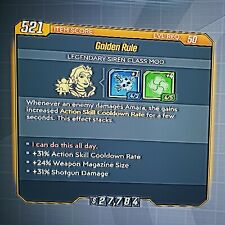 "Handsome Jackpot! Amara COM ""Golden Rule"" - Borderlands 3 (PS4) Moxxi's Heist"