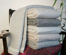 Cashmere Wool Blankets Throws 100% Hand Woven Travel Throws