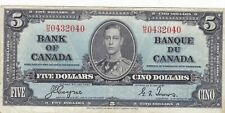 1937 Bank of Canada $5 note circulated