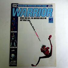 Warrior Quality Comics 3 (1982) Uk Magazine MarvelMan V Vendetta Alan Moore Lgdd