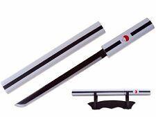 "14"" Fantasy Anime Mini Kusanagi Sword w/ Table Stand - White Grass Cutting Sword"