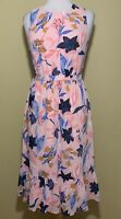 NWT J Crew Factory Crinkle Tiered Midi Dress Floral Pink Size 4