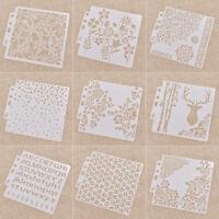 Vintage Muster Scrapbooking Stempel für Wände Malerei Layering Schablonen DIY 1x