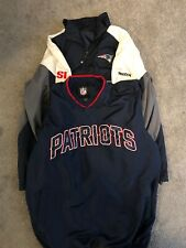 New England Patriots Pair Of Windbreakers Men's Large NFL Reebok SI Excellent