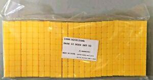 Base Ten Blocks, 10 Rods, Set of 50, Yellow Math Manipulatives Plastic Blocks