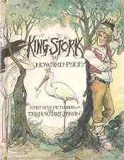 """Howard Pyle """"KING STORK"""" (1973) FIRST EDITION Rare Hardcover in Dust Jacket"""