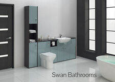 HACIENDA / METALLIC BLUE GLOSS BATHROOM FITTED FURNITURE 2000MM WITH TALL UNIT