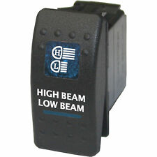 Rocker switch 539B2 12V HIGH LOW BEAM on off on blue DPDT