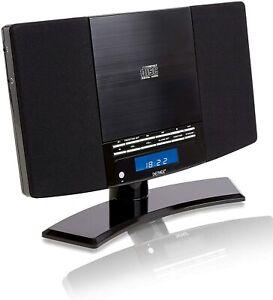 CD Player Denver MC-5220 MK2 hi fi system Black or Silver FM radio & Clock Alarm