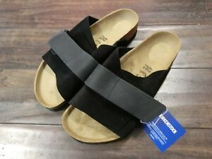 BIRKENSTOCK KYOTO Black suede leather #1018121 NEW!