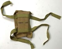 WWII US D-DAY AIRBORNE PARATROOPER RUBBERIZED FIRST AID JUMP KIT-OD#3
