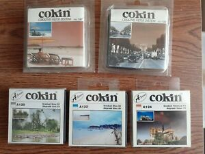 5 Cokin A series graduated color filters. New old stock. 120 122 124 125 197