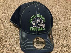 New Era Seattle Seahawks Vintage Helmet Hat 39thirty Men's Size: L/XL