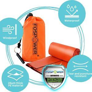 Waterproof Emergency Survival Sleeping Bag Blanket Stuff Sack & Whistle Bivvy