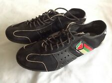 BRANCALE BLACK UP & LOWER LEATHER VINTAGE CYCLING SHOES SIZE 40 EUR USED COND