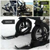 Skis for Buggy Stroller Gliders, Sand Snow Stones Beach NEW by My Buggy Buddy