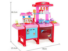 Large Sound Light Toy Kitchen Kids Pretended Play Kitchen Set Cooker Xmas Gift