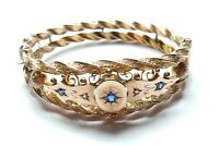 Sapphire and Diamond Bangle Victorian Rose Gold 9 carat