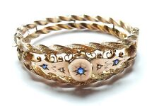 Sapphire and Diamond Bangle Victorian Rose Gold 9 carat