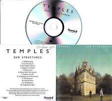 TEMPLES Sun Structures 2014 UK 12-track numbered promo test CD