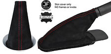 RED  STITCH REAL SUEDE GEAR & HANDBRAKE BOOT FOR BMW MINI COOPER R55 R56 R57