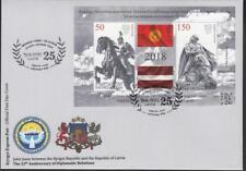 Kyrgyzstan Kirgistan MNH** 2018 Mi. 106-107 Bl.30 FDC Joint Issue Latvia