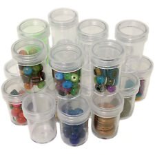 24 Pcs Plastic Containers Rounded Screw-Top Lids - Crafting Beading Creams Herbs