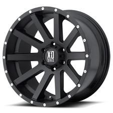 4 wheels  20x10 XD XD818 Heist 5x5/5x127  Black Milled Spokes Wheels Rims