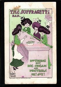 THE SUFFRAGETTE BAR NOTHING BUT ICE CREAM AND PRETZELS Walter Wellman PC - UK343