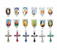 Yaoding 30sets Mix Picture Rosary Cross and Center Sets for Rosary Bead Neckl...
