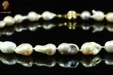 $ 2700 / NEW / Natural Baroque Tahitian Pearl necklace / 14K gold