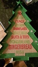 Large Metal Marquee Christmas Tree Light Up Sign Rustic wall Decor Battery