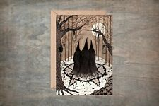 Witches Coven Greetings Card & Envelope - Winter Halloween Goth Pentagram Pagan