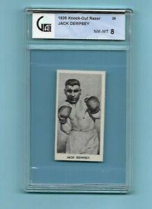 1938 Cartledge Razor Boxing HOF #26 Jack Dempsey GAI NM-MT 8