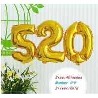1PC 40inch Number 0-9 Balloon Aluminum Foil Helium Balloons Birthday Party Decor