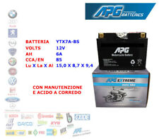 BATTERIA MOTO SCOOTER QUAD 12V 6A CCA/EN 85 YTX7A-BS APG EXTREME XETX7ABS