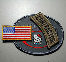 SECRET SERVICE 3-PC SET: Private Security Contractor Iraq + FLAG Tab + PSC Tab