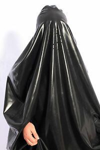 2821 Latex Rubber Gummi Catsuit gowns Robe Burqa toga mask Niqab customized 1mm