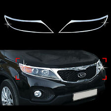 Chrome Headlight Lamp Molding Trim Cover for 09+ Sorento