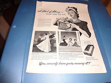 """1940 Kotex Vintage Magazine Ad """"A wad of money doesn't make you rich."""""""