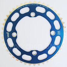 Porkchop BMX Chop Saw I single speed bicycle chainring 43T 4 bolt 104 bcd BLUE