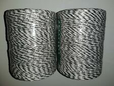 Poly wire 500m x 3mm 9 Strand Electric Fence Wire x 2 Rolls