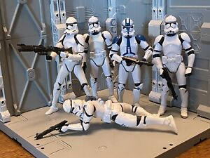 Star Wars Clone Wars Phase 2 Trooper Lot 501st Legion