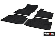 High Quality Black Rubber Tailored Car Mats - VW Passat B8 (14 on) + Clips