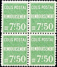 FRANCE COLIS POSTAUX N° 171 NEUF** EN BLOC DE 4