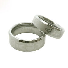 His & Hers 8/6mm Tungsten Carbide CLADDAGH Wedding Band Ring Set