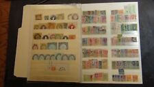 Brazil revenues and cut squares stamp selection on sheets